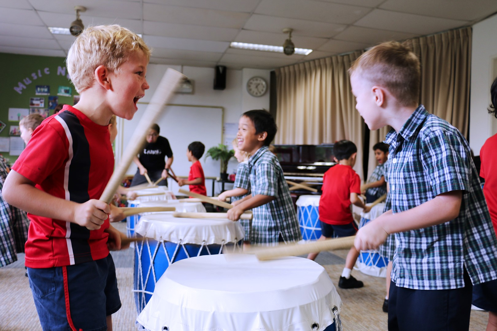 Taiko Drum Making and Introduction, Infant & Senior Schools