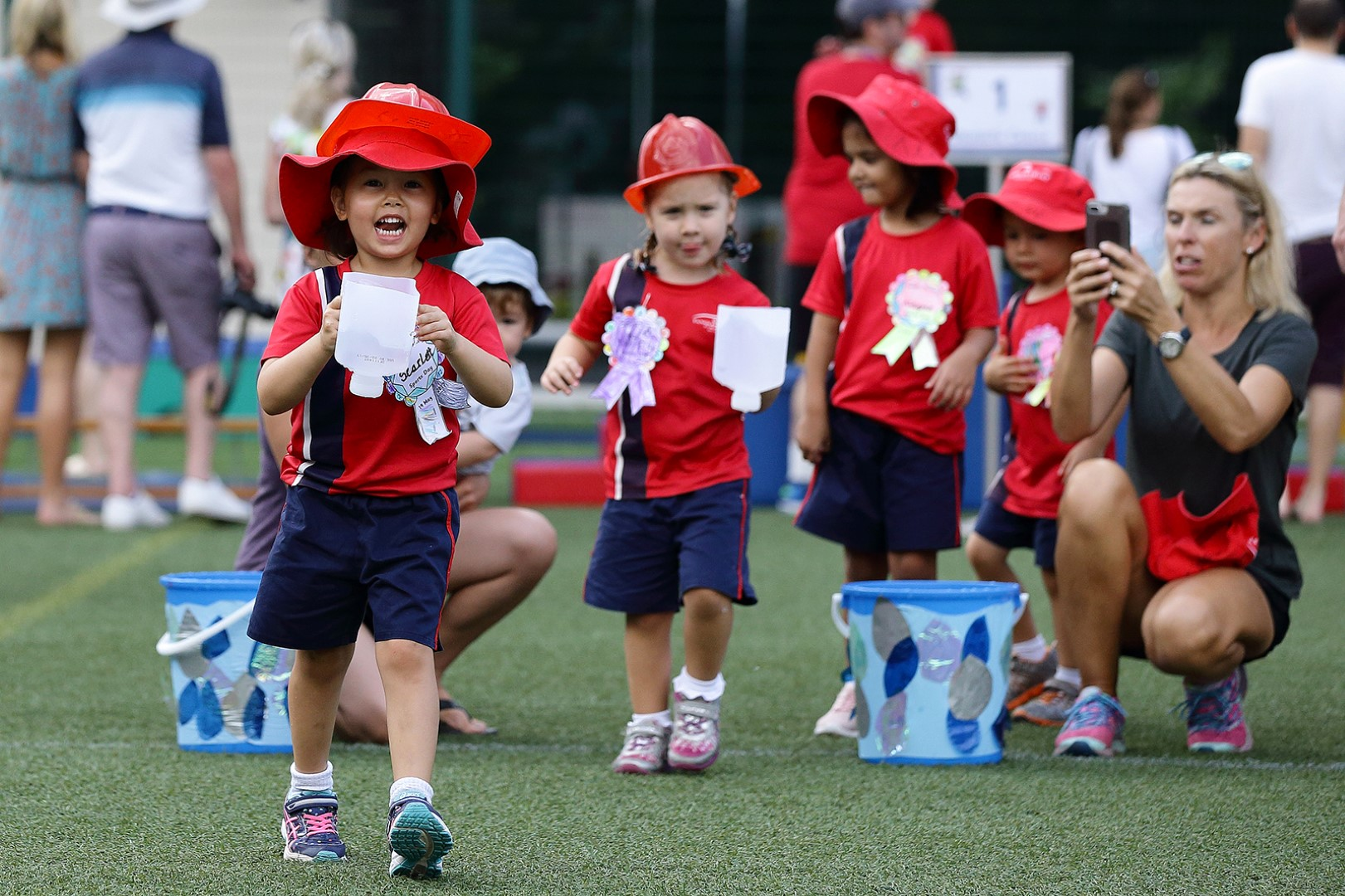 EYFS students sports day